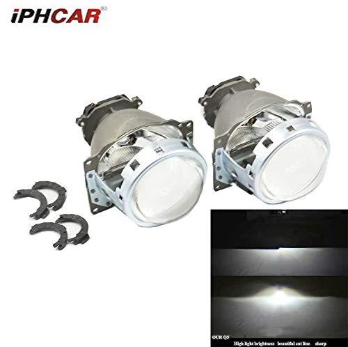 Generic 2pcs 3.0'' Koito Q5 Bixenon HID Projector Lens Headlight Car Light D1S D2H D2S D3S D4S Retrofit Tuning Replace European Standard