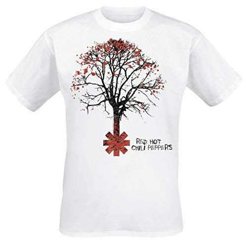 Red Hot Chili Peppers Higher Ground Hombre Camiseta Blanco S, 100% algodón, Regular