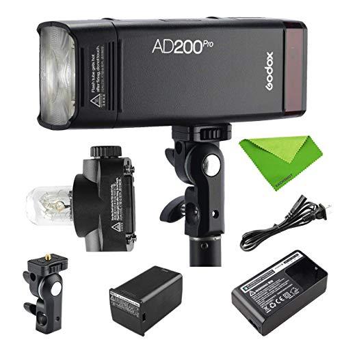 【PSE認証取得&日本語説明書】Godox AD200 Pro AD200Pro 200W 2.4Gフラッシュストロボ、1/8000 HSS、500回...