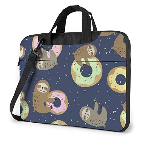 Donuts Lazy Lightweight Waterproof Laptop Notebook Shoulder Backpack Bag Briefcase Messenger with Strap 15.6″