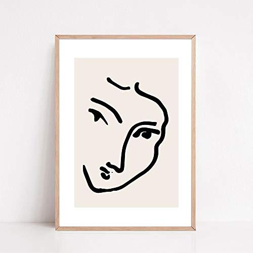 Cartel retro del cuerpo humano abstracto de Matisse e impresión colorida planta Mural arte imagen nórdica pintura en lienzo sin marco A3 40x60cm