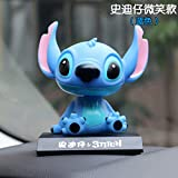 UDstrap Karikatur Anime Stitch Figur Stich 11cm Bobble Head Puppen Anime PVC Action Figur Modell...