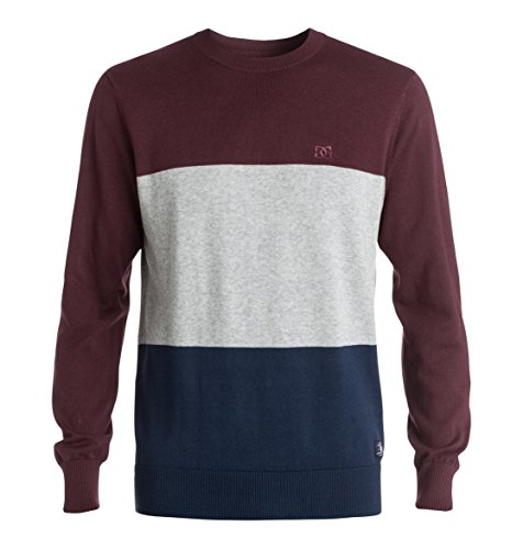 DC Shoes Russelboro - Pull - Uni - Manches longues - Homme - Multicolore (Port Royale) - Medium (Taille fabricant: M)
