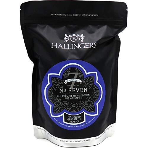 Hallingers Entkoffeinierter Gourmet-Kaffee aus Äthiopien, schonend langzeit-geröstet (500g) - No. Seven (Aromabeutel) - zu Passt immer