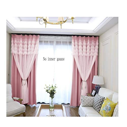 Korean Tous Ombrage Rideau, Fini De Fenêtre, Chambre, Salon, High Grade Lace Princesse, Vent Fenêtre, Rideau De Tissu.300 x 270 CM (W x H) x 2,B