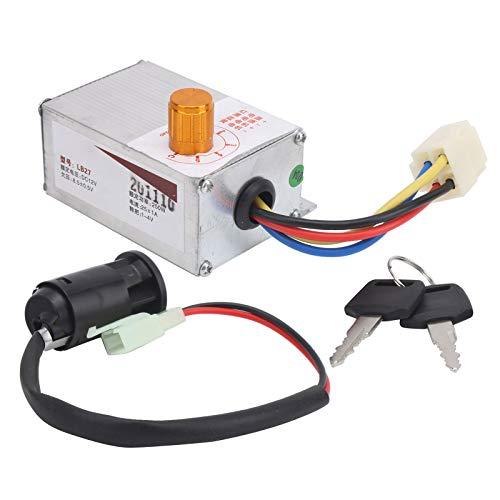 Alomejor Controlador de Velocidad de Bicicleta eléctrica de 12V 250W, Juego de Controlador de regulador de Velocidad de Bicicleta con Cerradura eléctrica