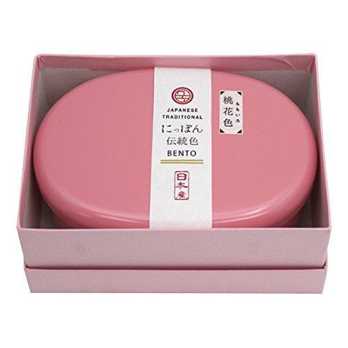 padou にっぽん伝統色小判1段弁当 (桃花色) スリム ギフト プレゼント シンプル 日本製 (230ml)