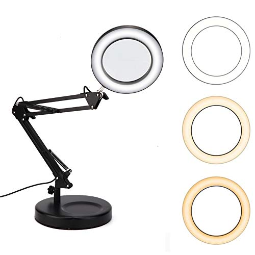 Lámpara de lupa de escritorio USB Tatuaje Lámpara de lupa plegable de...