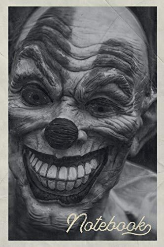 Notebook: Best Horror Movies of All Time Excellent Composition Book Journal Diary for Men, Women, Teen & Kids Vintage Retro Design for Notes on Top 10 Scary Clowns