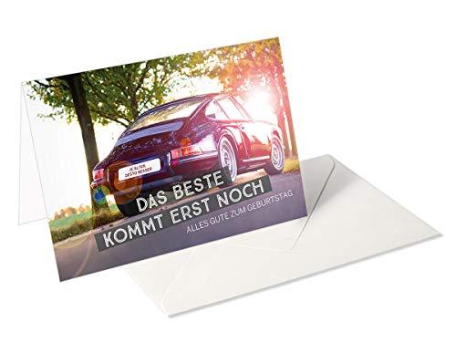 Ich wünsch Dir was/Grußkarte/Glückwunschkarte zum Geburtstag/Porsche
