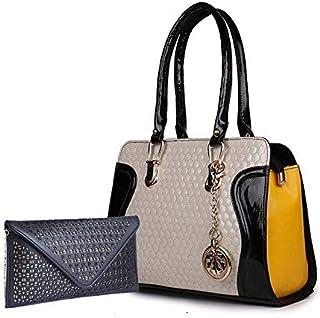 CLASSIC FASHION Women's Handbag (Set of 2) (CFSN44_Multicolored)