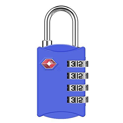 ZHEGE TSAロック 4桁ダイヤル式 南京錠 暗証番号 海外旅行用鍵 ジムロッカー荷物バッグ用ロック