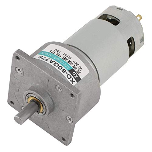 L-YINGZON Motor Gear Motor, 12V/24V 35W 5-600rpm Low Noise Low Loss Wear-Resisting Micro DC Metal Gear Motor Rate Adjustable CW/CCW for Models Automation Equipment Electronics (#6)