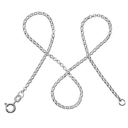 modabilé Erbskette Damen Halskette 925er Sterling Silber (42cm I 2mm breit) Silberkette Damen 925 ohne Anhänger I Zarte Silberne Kette für Frauen Kurz mit Geschenk-Etui I Produziert in Deutschland