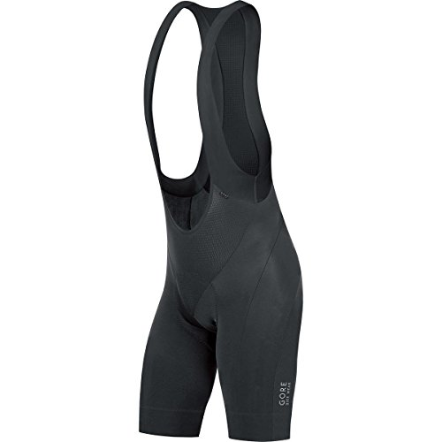 GORE BIKE WEAR, Culote corto, Térmico y acolchado, GORE Selected Fabrics, POWER short+, Talla L, negro, WSPOWE990005