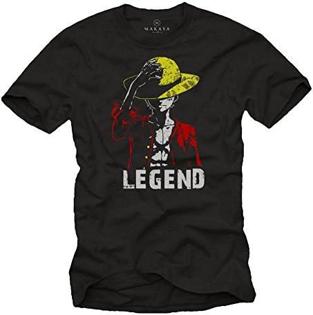 Regalos Frikis Hombre - Camiseta Divertida - Sombrero Legend - T-Shirt Manga Corta Anime