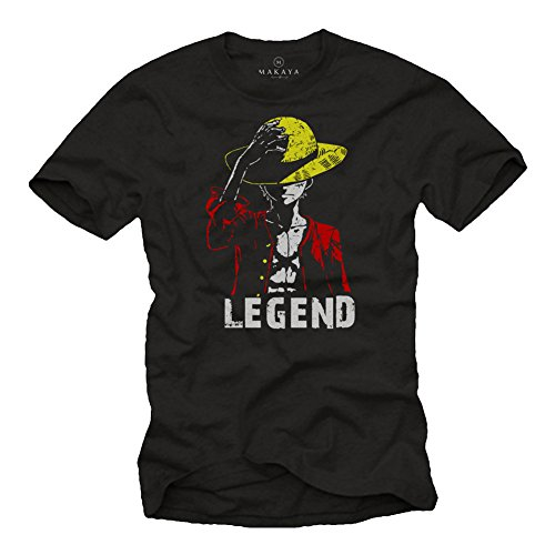Luffy Tee Shirt - Legend - Monkey One T-Shirt Noir L