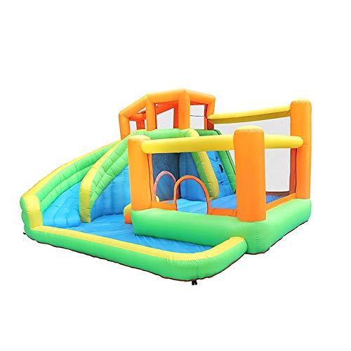 Castillo Inflable Zona de Juegos al Aire Libre del Equipo del Juego pequeño trampolín Combinación de Diapositivas de Castillo Inflable Familia Niños Castillo Inflable del Parque Infantil