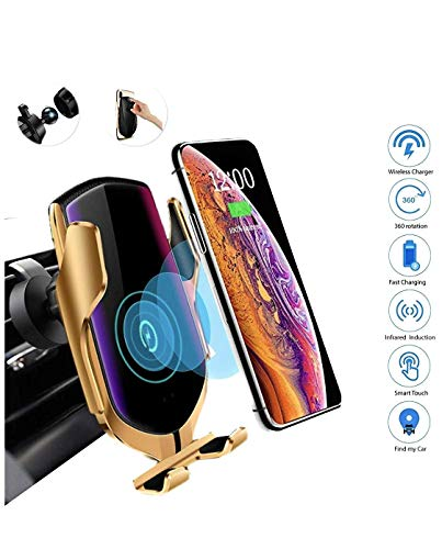 ETRYBEST Wireless Car Charger,10W Qi Fast Charging Auto-Clamping Car Mount Air Vent Phone Holder Compatible with iPhone 11/11 Pro/11 Pro Max/Xs MAX/XS/XR/X/8/8+,Samsung S10/S10+/S10E/S9/S8/Note 10/9/8