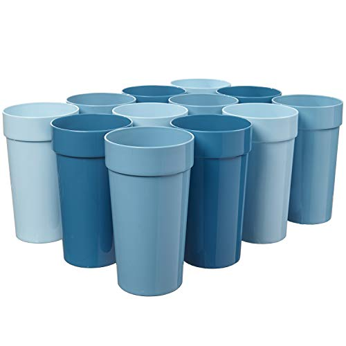 Spectrum 20ounce Plastic Tumblers | set of 12 in Shades of Coastal Blue