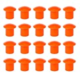 Protector de Varilla y Reas para Construcción, Tapa protectora roscada, Setas Protectoras, 10-30Mm, Naranja, (BOLSA DE 20 UDS)