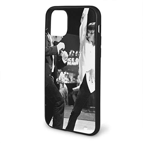 Pulp Fiction Dance Compatible para iPhone 11 12 Pro MAX XR XS MAX 6/7/8 Plus SE 2020 Funda para teléfono Negra Funda para teléfono móvil