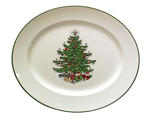 Cuthbertson Original Christmas Tree Traditional Oval Platter, Medium 12'