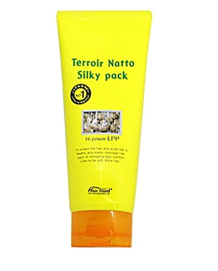 病的昆虫を見る無駄[MEDICIJAPAN/メディシュジャパン] Hair Food Terroir Natto Silky Pack 200ml/ ヘアフードテロワール納豆シルキーパック(海外直送品)