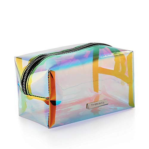 Holographic Makeup Bag Iridescent Cosmetic Bag Hologram Clutch Large Toiletries Pouch Holographic Handy Makeup