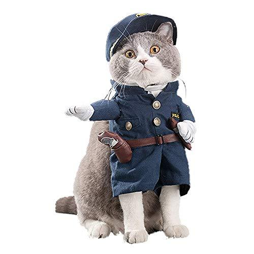 Haustierkostüm für Hunde und Katzen, für Halloween, Weihnachten, Cosplay, lustiges Accessoire für kleine Hunde und Katzen (Brustumfang: 45 - 50 cm, Halsumfang: 27,9 - 33 cm)