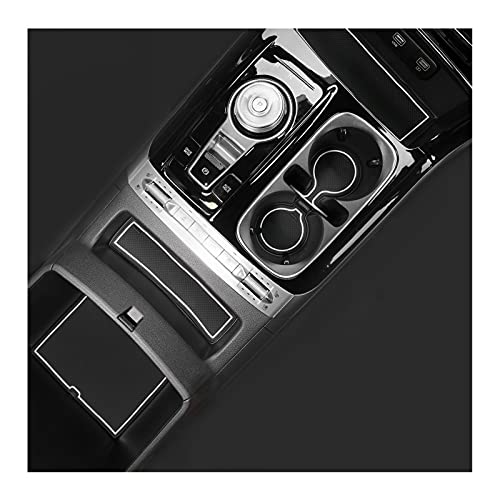 RUIYA Door Gate Slot Mats Fit for Kia Carnival KA4 2022+ Non-Slip Center Console Liner Car Accessories Interior Automotive Decoration White
