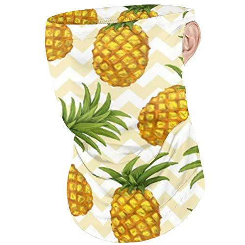 Green Haoke Staubdichte Bandana Kopfbedeckung Ananas Bedruckte Halsmanschette Ohrschlaufe Gesicht Sonnenschirm zum Reiten Wandern Radfahren Angeln