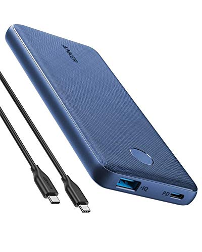 Anker PowerCore Slim 10000 PD, 10000mAh Portable Charger USB-C Power Delivery (18W) Power Bank for iPhone 11/11 Pro / 11 Pro Max / 8 / X/XS/XR, S10, Pixel 3, iPad Pro 2018, and More