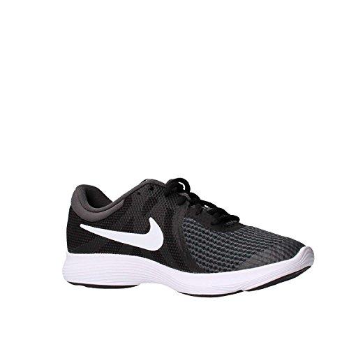 Nike Unisex-Kinder Laufschuh Revolution 4, Schwarz - 6