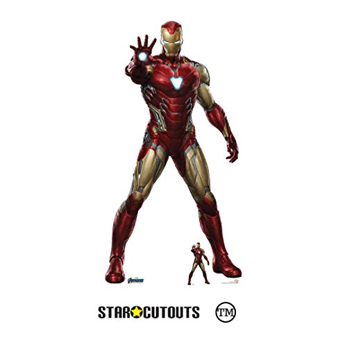 STAR CUTOUTS SC1314 Marvel Iron Man Robert Downey Jr - Figura de cartón de los Vengadores de los Vengadores, 185 cm, Multicolor