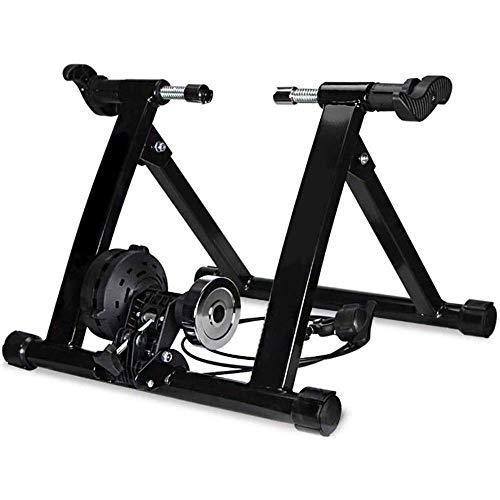 ZXYY - Entrenador magnético para bicicleta, entrenador portátil para bicicleta Turbo Roller Ciclismo, marco interior de acero, soporte para ejercicios fijos para bicicleta de ciclismo rojo, Negro