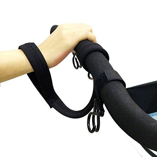 LOUHUA Baby Stroller Pram 1 Piece Black Safety Belt Wrist Strap with 2 Pieces Stroller Hook