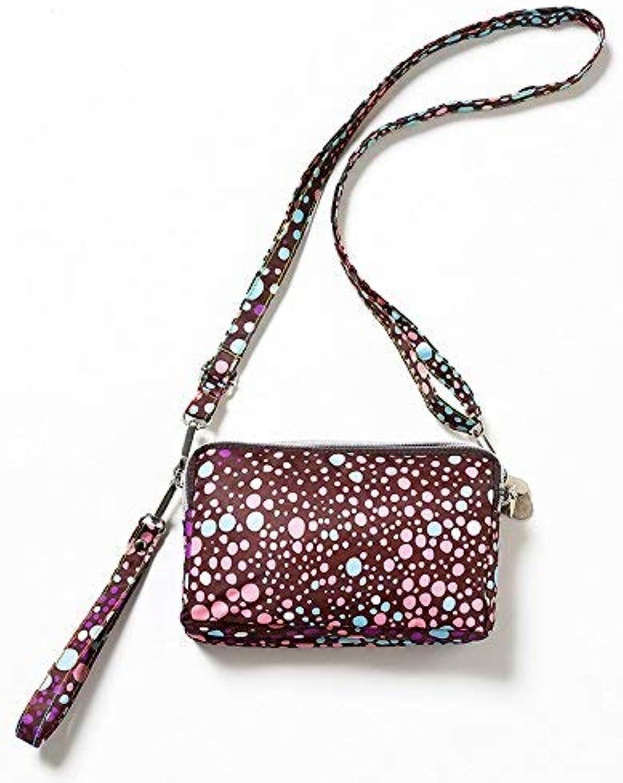Girls Purse Small Bag Satchel Bag Mobile Phone Bag Three Zipper Large Capacity Zero Wallet Mini Mobile Phone Bag (color   Purple dots)