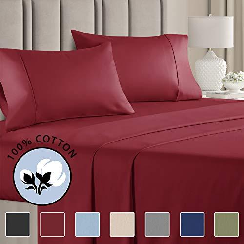 burgundy bed set full - 9