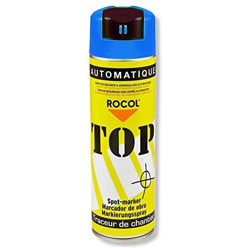 TOP Markierungsspray Rocol - BLAU - 500ml-Farbdose - Farbspray - Markierspray - Markierungsfarbe - Forstspray - Forstfarbe