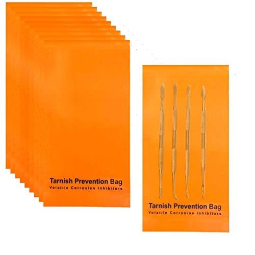 A-ONE Flache VCI-Taschen für Metallschutz, Rostschutz, wiederverwendbare Dampf-Korrosionsschutzbeutel für Multi-Metall, Waffenteilschutz, 8,1 x 15,2 cm (20 Stück)