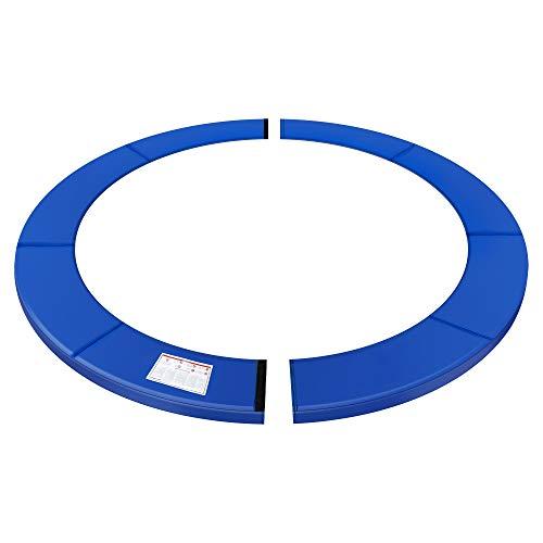 SONGMICS Red de protección de trampolín, 366cm, Cubierta de Resorte, Resistente a los Rayos UV, Protección de Bordes Resistente a los desgarros, Tamaño estándar, Azul STP012Q02