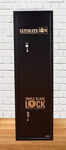 Ultimate Safe® Armario Armero Porta Fusiles/ Caja Fuerte para 6 Fusiles de Alta Seguridad, Armario con Cerradura de Triple Blade Lock®: Amazon.es: Deportes y aire libre