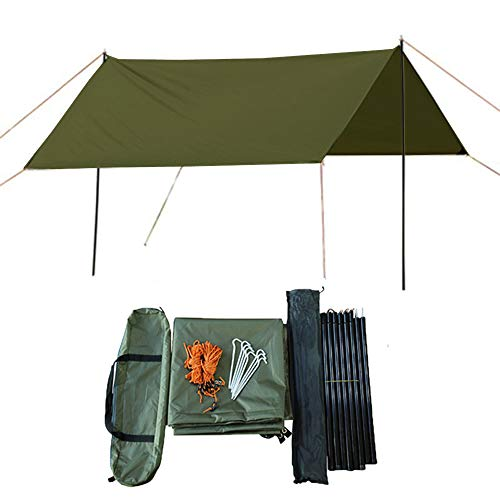 HI SUYI ultraligero camping hamaca lluvia mosca cubierta mochila supervivencia refugios tienda impermeable soldado 3 m x 3 m