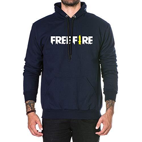 Moletom Unissex Estampado Free Fire Game Mobile Azul-Marinho (M)