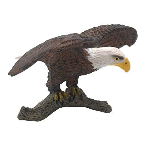 B Blesiya Oiseau Figurine Statue Animaux Artificielle Scupltue Jardin Pelouse Décor - Aigle 2