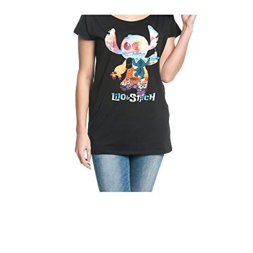 Lilo und Stitch Loose Oversize - Camiseta para mujer (tallas S - L), color negro Negro M