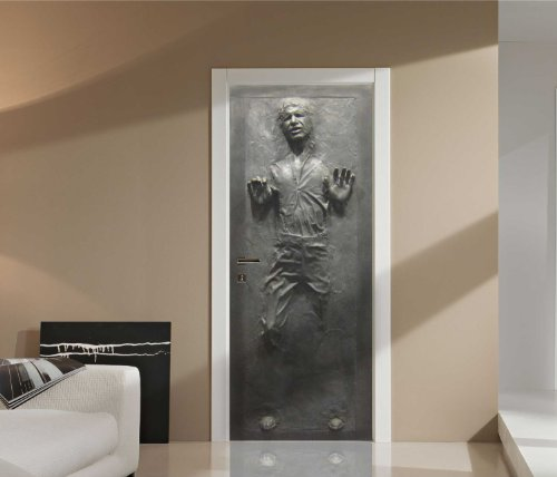 FATHEAD Han Solo: in Carbonite-Life-Size Officially Licensed Star Wars Removable Wall Decal, Premium - with Ancillary