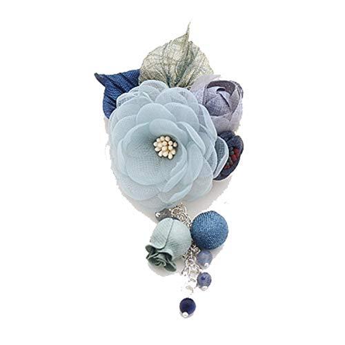 Mijn Droom Dag Elegante Zijde Garen Bloemen Glanzende Mode Mooie Broche Pinnen Rugzakken Sieraden Kristal Hanger Pin Temperament Jurk Accessoires