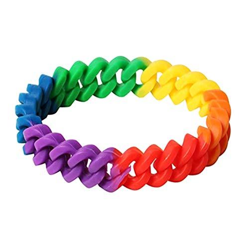 Fat Bear Exquisite Life Essentiële Six-Layer Kleur Gay Gay Regenboog Kleur Polsband Gay Blank Hand Ring Polsband 02